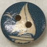 Round Printed Nautical Wooden Buttons